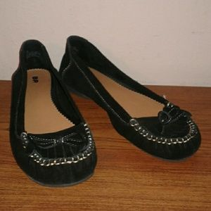 BP. Black Leather Moccasins